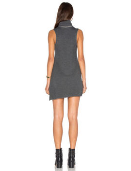 New $112 Revolve Nation Ltd Jen Menchaca Blanca Grey Cowl Tunic Short Dress L by Nation Ltd