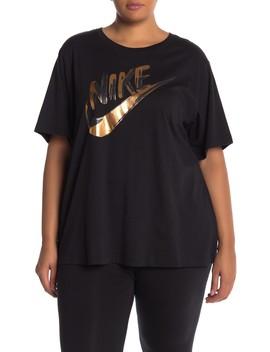 Short Sleeve Metallic Logo Tee (Plus Size) by Nike