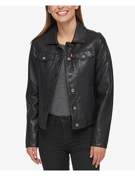Buffed Cow Faux Leather Jacket by Levi's