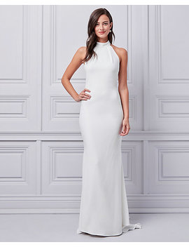 Bengaline Halter Gown by Le Chateau
