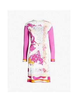 Colour Blocked Crepe Dress by Emilio Pucci