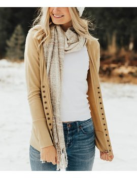 Khaki Snap Button Cardigan   Women & Plus by Zulily