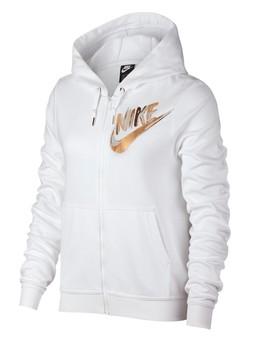 Front Zip Metallic Detail Hoodie by Nike