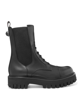 Leather Combat Boots by Dolce & Gabbana