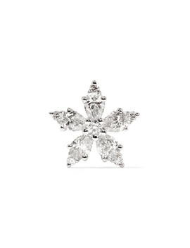 Snowflake 18 Karat White Gold Diamond Earring by Maria Tash