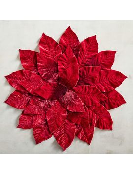Faux Flocked Poinsettia Placemat by Pier1 Imports