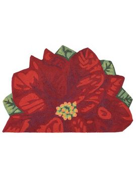 Poinsettia Red Demilune Rug by Pier1 Imports