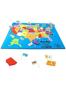 Imagimake: Mapology Usa With Capitals  Learn Usa States Along With Their Capitals And Fun Facts  Fun Jigsaw Puzzle  Educational Toy For Kids Above 5 Years by Imagimake