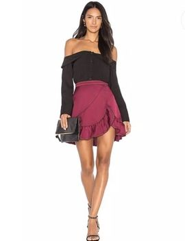 Devlin Brielle Ruffle Mini Skirt Frosted Grape 8 Revolve by Devlin