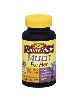 Nature Made Women's Multivitamin W/ Iron & Calcium Dietary Supplement Tablets   120ct by Nature Made
