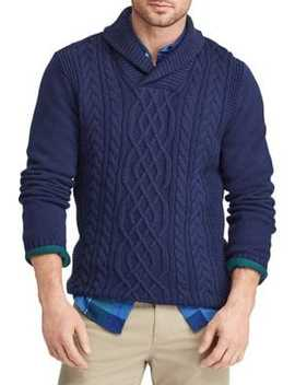 Cable Knit Cotton Sweater by Chaps