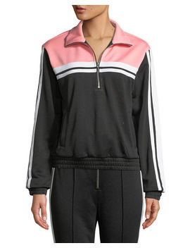 Tricot Striped Pullover Track Jacket by Juicy Couture