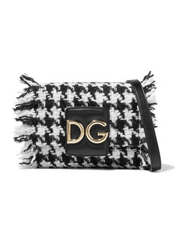 Dg Millennials Leather Trimmed Frayed Tweed Shoulder Bag by Dolce & Gabbana