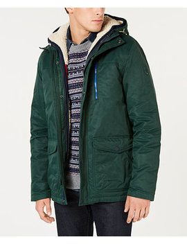Men's Hilltop Hooded Coat With Detachable Fleece Vest, Created For Macy's by Tommy Hilfiger