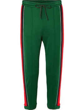 Striped Tech Jersey Track Pants by Gucci