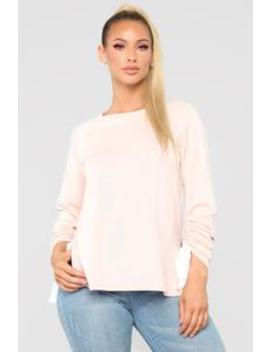 Lazy Day Sweatshirt   Blush by Fashion Nova