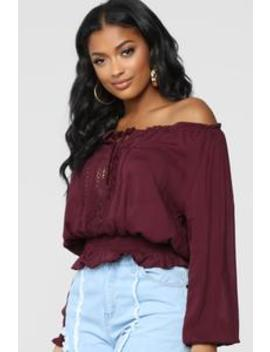 Uly Crochet Top   Plum by Fashion Nova