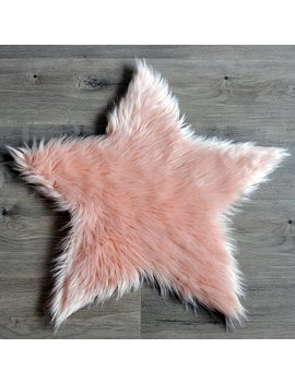 Kroma Carpets Faux Sheepskin Blush Area Rug by Kroma Carpets
