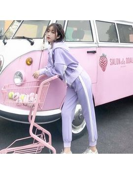 Hanji   Set: Hooded Zip Jacket + Sweatpants by Hanji