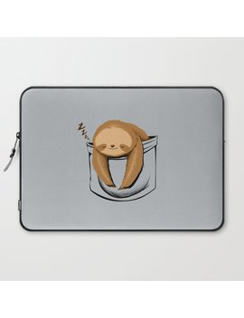 Sloth In A Pocket Laptop Sleeve by