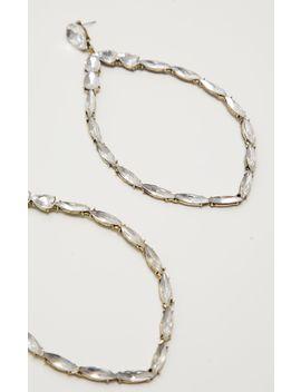 Silver Statement Diamante Teardrop Earrings by Prettylittlething