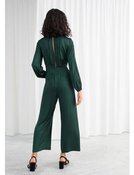 Long Sleeve Satin Jumpsuit by & Other Stories