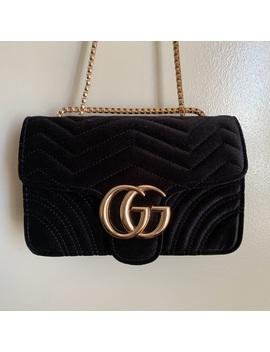New Gucci Gg Marmot Velvet Mini Bag Iayai761Nwt by Gucci