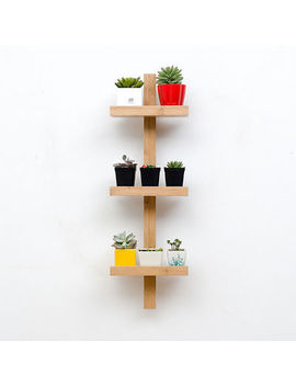 3 /4 /5 Tier Wall Hanging Plant Shelf, Bamboo Plant Rack Organizer Shelving Unit by Asunflower