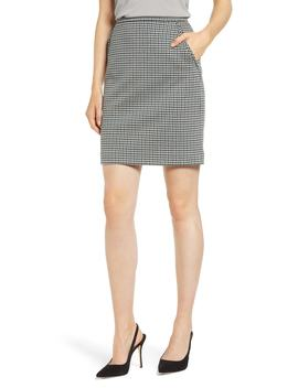 Houndstooth Pencil Skirt by Anne Klein