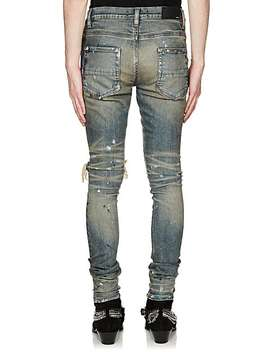 Broken Paint Splatter Slim Jeans by Amiri