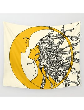 Sun And Moon Wall Tapestry by