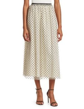 Polka Dot Maxi Skirt by Red Valentino