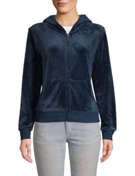 Embellished Graphic Zip Hoodie by Juicy Couture