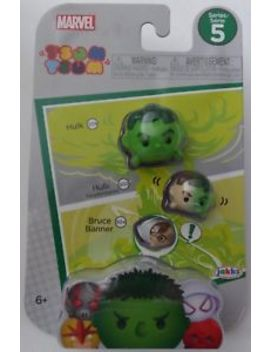 Disney Marvel New Tsum Tsum Series 5 Hulk Transform<Wbr>Ing Bruce Banner 3 Pack New by Jakks Pacific
