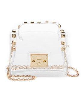 Studded Clear Crossbody Handbag by Gb Girls