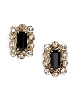 Crystal & Ball Chain Stud Earrings by Sorrelli