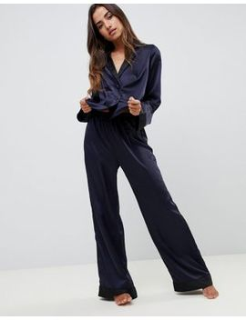 Asos Design Contrast Satin Pyjama Pants by Asos Design