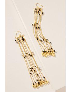 Duster Beaded Drop Earrings by Deepa Sethi