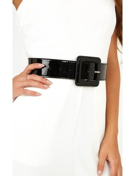 Another Case Belt In Black Patent by Showpo Fashion