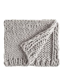 Super Chunky Knit Gray Throw by Pier1 Imports
