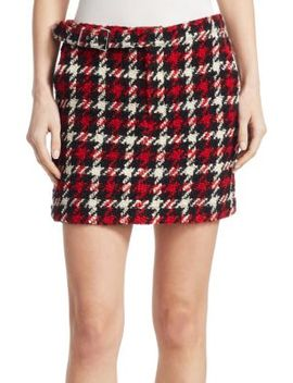 Belted Wool Mini Skirt by Mc Q Alexander Mc Queen