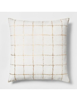 Metallic Grid Oversize Square Throw Pillow   Project 62™ by Shop Collections