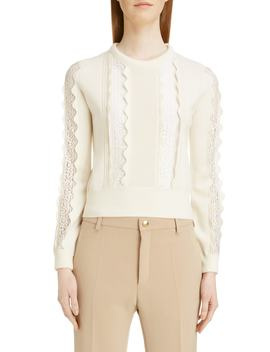 Lace Inset Sweater by ChloÉ