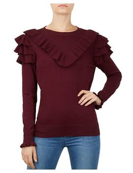 Yowsie Ruffle Trimmed Sweater by Ted Baker