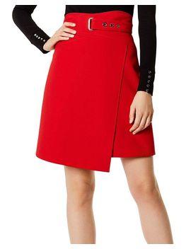 Faux Wrap A Line Skirt by Karen Millen