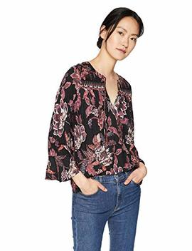 Lucky Brand Women's Floral Border Print Top, by Lucky+Brand