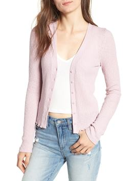 Slim Long Sleeve Button Cardigan (Regular & Plus Size) by Bp.