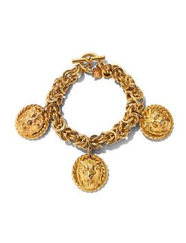 Chunky Lion Charm Bracelet by Anne Klein
