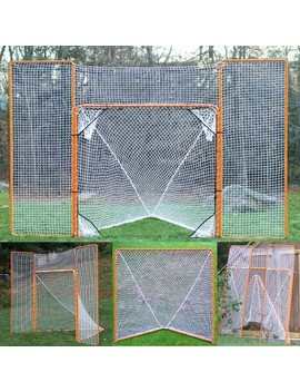 Ez Goal Heavy Duty Folding Metal Lacrosse Goal With Backstop & Targets   6'x6' by Ez Goal