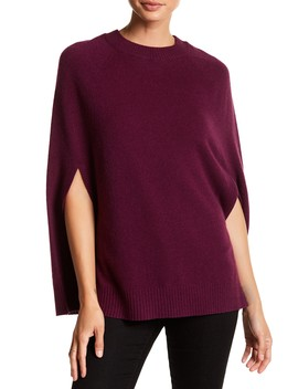Crew Neck Cashmere Poncho by In Cashmere